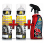 2 Latas Dip Shine Grafite Emborrachamento Spray + Limpa Roda