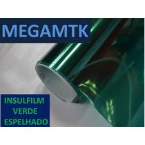 Insulfilm-insul Film Espelhado Verde 0,75x7,5m Profissional