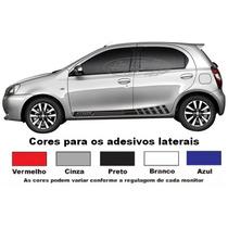 Adesivos Etios Hatch Kit Faixas Laterais Acessório Esportivo