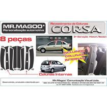 Colunas Pretas Corsa 4 Portas Hatch E Sedan + Frete Gratis