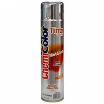 Tinta Spray Cromada Metalico Chemicolor Automotivo 350ml