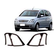 Kit Aplique Farol Mascara Negra Chevrolet Meriva 2003 A 2011