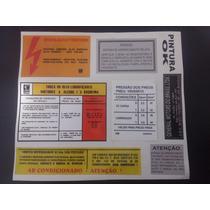 Adesivos Etiquetas Especificações Motor Chevrolet Omega