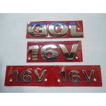 Emblemas Gol+ 16v Lateral+ 16v Mala Nbz Automotive