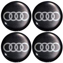 Adesivo Resinada Modelo Audi P/calota Ou Roda C/4 Peças 48mm