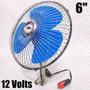 Ventilador 12v Carro Vam Automotivo Mini 6 Polegadas
