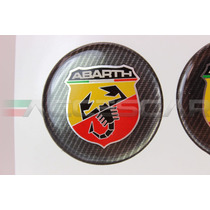 Kit Adesivos Abarth P/ Calotas De 49mm