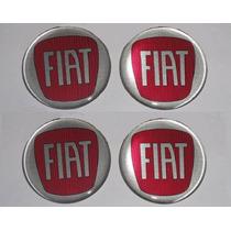 Jogo Emblema Fiat Botom Para Calota Roda Esportiva 48mm