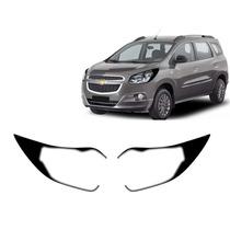Kit Aplique Farol Mascara Negra Chevrolet Spin 2012 A 2015