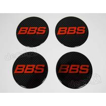 Emblema Adesivos Centro Roda Bbs 68mm Vermelho Resinado Re8
