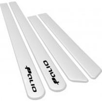 Jogo Friso Lateral Palio 2013 - G5 - 4 Portas Branco #5682