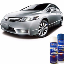 Tinta Spray Automotiva Honda Prata Global + Verniz 300ml