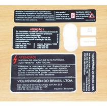 Kit Adesivos De Informações Técnicas P/ Carro Vw Fox E Polo