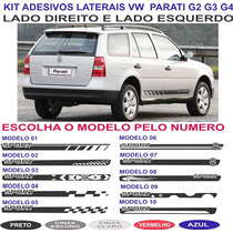 Acessorios Sport Vw Parati G2 G3 G4 Adesivo Lateral