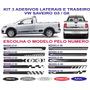 Faixa Adesivo Vw Saveiro G5 G6 Sport Laterias E Traseira Kit
