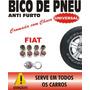 Bico Válvula De Pneu Antifurto Trava Cromado - Fiat Vermelho