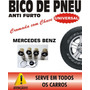 Bico Válvula De Pneu Antifurto Trava Cromado - Mercedes