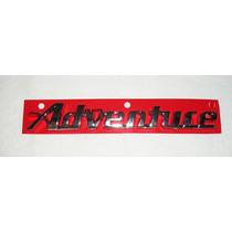 Emblema Adventure Palio Strada Dobló Idea Cromado Linha Fiat