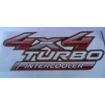Adesivo 4x4 Turbo Inetrcooler Hilux 2009 - Mmf Auto Parts.