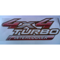 Adesivo 4x4 Turbo Inetrcooler Hilux 2009 - Mmf Auto Parts.