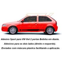 Adesivo Sport Vw Gol Bola G2 G3 G4 2/p Faixa Lateral Carros
