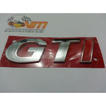 Emblema Gti Croma Com I Vermelho- Gol Golf G3 E G4