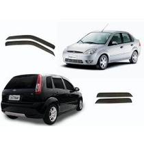 Jogo Calhas E Palhetas Slim Fiesta Hatch E Sedan 2003 A 2014