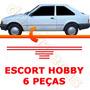 Kit Friso Lateral Escort Hobby 93 94 95 96 Vermelho Novo