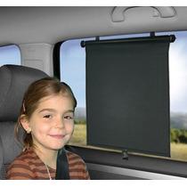 Protetor Solar Retrátil Para Vidro De Carro Preto