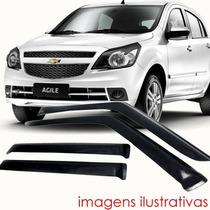 Calha Defletor De Chuva Chevrolet Agile 4 Portas - Tg Poli