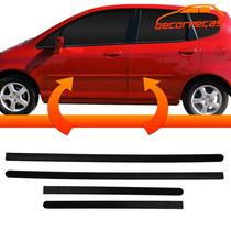 Kit Friso Lateral Honda Fit 2003 A 2008 4 Peças Novo