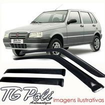 Calha Defletor De Chuva Fiat Uno 95/10 - 4 Portas Tg Poli
