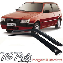Calha Defletor De Chuva Fiat Uno 95/10 - 2 Portas Tg Poli