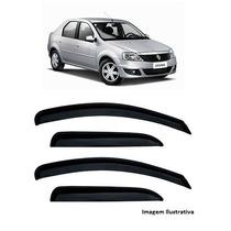 Calha De Chuva Renault Logan Até 2012 Defletor De Chuva Fume