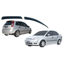 Jogo 4 Calhas De Chuva Ford Fiesta / Hatch / Sedan 2002 Até