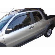Jogo 4 Calhas De Chuva Fiat Palio / Strada 96 Até 2010 4p E