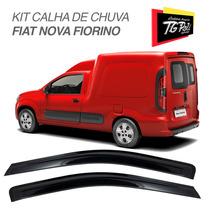 Kit Defletor Calha De Chuva Fiat Nova Fiorino 2014 2015