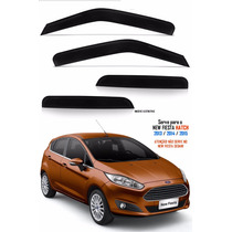 Jogo Calha Chuva Fume Acrílico Ford New Fiesta Hatch 4p