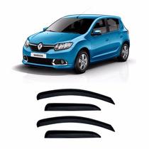 Jogo Calha Defletor Chuva Renault Sandero 4p 2015 Original