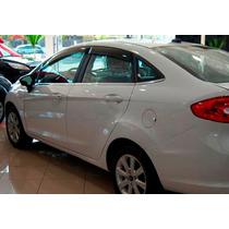 Calha De Chuva Tg Poli Ford New-fiesta Sedan 11/15 4 Portas