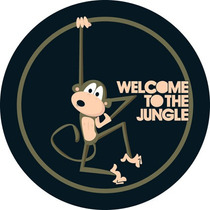 Capa Roda Estepe Rav4 - Welcome To The Jungle, Macaco, Selva