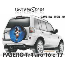 Capa Estepe Tr4, Pajero, Caveira, Cabo+cadeado, M-01