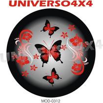 Capa Estepe Pajero Tr4, Pneu Original, Borboleta Flores 0312