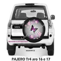 Capa Estepe Pajero Tr4, Pneu Original Todas, Borboleta, 0412