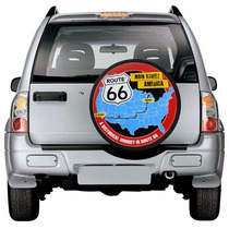 Capa Rota 66 Roda Estepe Aro 15 E 16 Route 66 Pra Carro Para