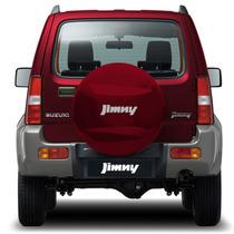 Capa Estepe Jimny 12 13 14 15 16 Rigida Aro 15 Vermelha Race
