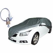 Capa Cobrir 100% Forro + Cadeado Combo 1 Capa Carro + 1 Moto
