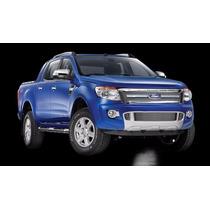 Kit Sobre Grade Cromo Aço Inox Filetada Ford Ranger 2013 /..