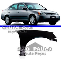 Paralama Civic 2001 2002 2003 01 02 03 Honda Direito