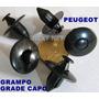 Presilha Grampo Fixação Moldura Peugeot Grade Frente Capo